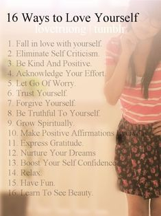 16 Ways to Love Yourself.