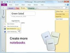 How to organize stuff in Microsoft OneNote 2010