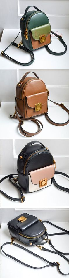 Genuine leather vintage women handbag shoulder bag crossbody bag See related items on Fanatic Leather Store. Vintage Bags, Vintage Handbags, Vintage Ladies, My Bags, Purses And Bags, Mode Blog, Leather Handbags, Leather Bags, Leather Purses