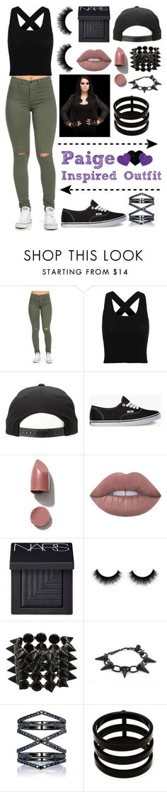 """""""Paige inspired outfit"""" by blackwidow7866 ❤ liked on Polyvore featuring Vans, Lime Crime, NARS Cosmetics, Eddie Borgo, Eva Fehren and Repossi"""