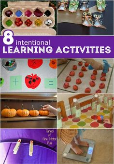 8 Intentional Learning Activities for kids