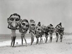 Women Holding Giant Masks Photographic Print by Bettmann Photo Vintage, Vintage Photos, Image Internet, Mardi Gras, Fine Art Photography, Amazing Photography, Female Art, Find Art, Photo Art