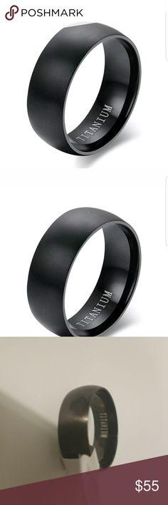 Titanium Black Men's Ring 9, 10, 11 Titanium Black Men's Ring 9, 10, 11 AprilsPlace Accessories Jewelry