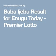 67 Best Nigeria images in 2019 | Lotto results, Lotto games, Today