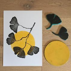 Cagey Scrapbooking Kits For Sale Ginkgo leaf rubber stamp biloba leaf stampbullet journal Stamp Printing, Screen Printing, Linocut Prints, Art Prints, Block Prints, Intaglio Printmaking, Lino Art, Linoprint, Illustration