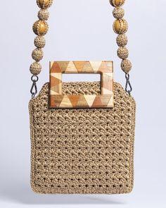 Purse Handles, Macrame Bag, Handmade Handbags, Basket Bag, Crochet Handbags, Clutch Bag, Crochet Projects, Straw Bag, Crochet Patterns