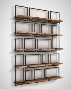 Give free rein to this extraordinary creativity! Make your own wall decoration. SHELFMATE is . Iron Furniture, Steel Furniture, Industrial Furniture, Home Furniture, Furniture Design, Small Space Interior Design, Interior Design Living Room, Interior Decorating, Diy Wall Decor