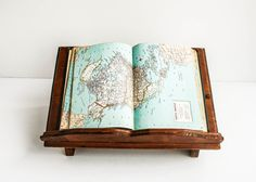 Rustic Vintage Book Stand Display Shelf Wood / by tawneyvintage, $45.00