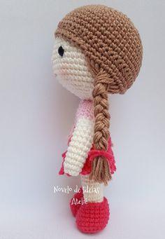 Knitted Dolls, Crochet Dolls, Crochet Yarn, Crochet Clothes, Crochet Amigurumi Free Patterns, Easy Crochet Patterns, Doll Patterns, Baby Doll Hair, Crochet Doll Tutorial