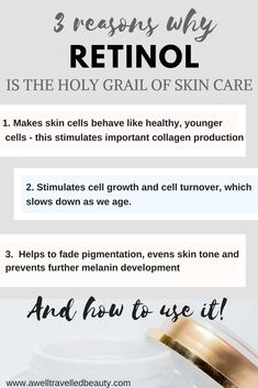 The Truth about Retinol. Retinol can make an incredible difference to your skin but it can be confusing trying to figure out how to use it. Find out www.awelltravelledbeauty.com