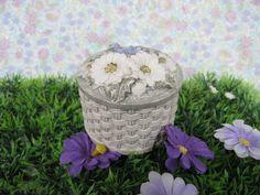 Alabaster Box - Ceramic Box - Floral Box - Flower Box - Vintage Box - Trinket Box - Jewellery Box - Jewelry Box - Keepsake - Dressing Table by MissieMooVintageRoom on Etsy