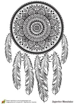 Dreams Indian Mandala Art Drawing Dream Catcher Coloring Pages Colouring