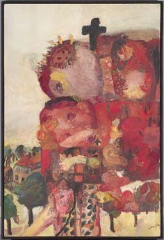 Georg Baselitz, Saxon Motif, 1964, Harvard Art Museums/Busch-Reisinger Museum.
