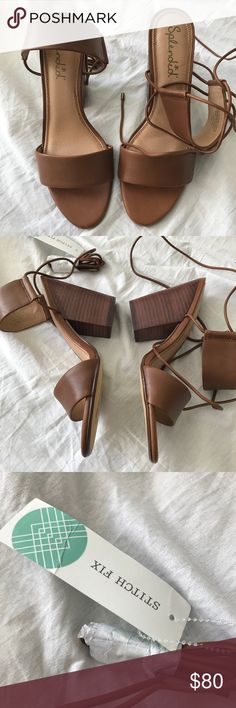 Stitch Fix Splendid Cognac Brown Heels Sandals 8.5 Stitch Fix Splendid Cognac Brown Heels Sandals 8.5. Gorgeous lace up sandals pair perfectly with summer skirts and dresses!  Brand new with tags attached. No box. They have never been worn. Please ask questions! Splendid Shoes Sandals