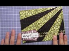 Easy how-to for sunburst card -- video tutorial