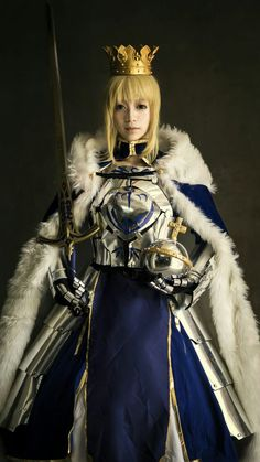Costumes & Accessories Costume Props Earnest Anime Fatego Joan Of Arc Saber Cosplay Costume Men Women Gift Halloween Stage Magical Prop 1 Piece Drop Ship