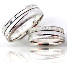 2 Trauringe Eheringe Verlobungsringe 925 Silber + Gravur + Etui AO-3311
