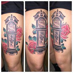 grandfather clock tattoo