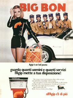 Campagna per i Big Bon Agip, con Raffaella Carrà che balla e canta assieme a Enzo Paolo Turchi e altri tre ballerini.