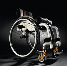 """The compact Quickie Xenon is billed as """"the lightest folding wheelchair in the world."""" The chair's progressive and patented flat cross brace. Manual Wheelchair, Powered Wheelchair, Mobiles, Lightweight Wheelchair, Wheelchair Accessories, Mobility Aids, Aging In Place, Disability, Futuristic"""