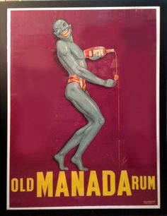 French Art Deco Poster Old Manada Rum | Modernism