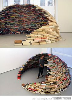 Funny pictures about An igloo made of books. Oh, and cool pics about An igloo made of books. Also, An igloo made of books photos. Book Organization, Book Storage, Book Nooks, Reading Nooks, 4th Of July Wreath, Decoration, Book Lovers, Paper Art, Book Art