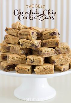 The Best Chocolate Chip Cookie Bars   Make 2 dozen cookies in 30 minutes.