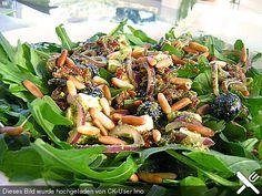 Antipasti - Salat mit Schafskäse und Pesto - Dressing