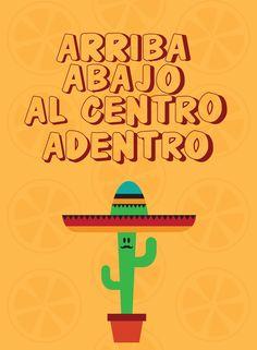 Poster Arriba... com moldura | Dependure | Elo7 Keller, Fiesta Party, Mexico Quotes, Mexican Party, Chalkboard, Pop Art, Toast, Printables, Decoupage