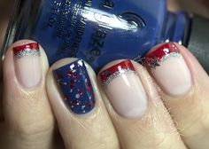 fourth of july nail designs | Fourth of July Mani ( Fireworks!)