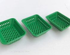 Miniature Plastic Basket, Miniature Basket,Dollhouse Basket,Basket Set,Plastic Basket