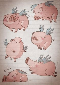 Flying pigs by Silvia Ortega
