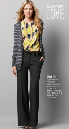 Stripes with print from Ann Taylor.  I would totally wear this to work!