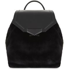Aldo Gazzone faux-fur backpack (831.010 IDR) ❤ liked on Polyvore featuring bags, backpacks, drawstring knapsack, aldo, rucksack bags, flap bag and backpack bags