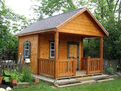 rustic sheds with porch | Funky Monkey helped build this ...