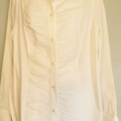 White longsleeved blouse White longsleeved blouse button cuffs polyester button front Tops Blouses