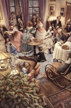 "Beautifully Illustrated ""A Christmas Carol"" Hardcover Book (and Dust-Jacket)…"