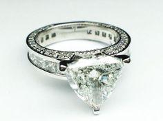 Trillion Diamond Bridal set Engagement Ring
