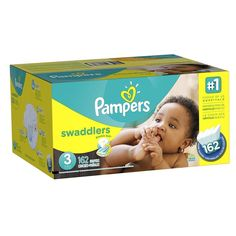 Pampers Swaddlers Diapers Size 3 162 Count Economy Pack Plus Baby Infant Clean  #Pampers