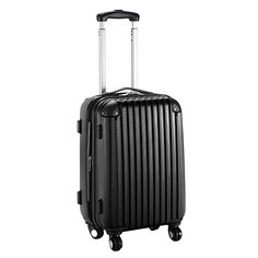 Goplus New GLOBALWAY 20 ABS Carry On Luggage Travel Bag Trolley Suitcase Black -- Want additional info? Click on the image. (Note:Amazon affiliate link)
