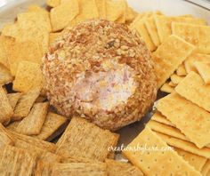 Ranch and Ham Cheese Ball from creationsbykara. Everyone loves this cheeseball! #recipe #cheeseball #ranch