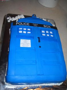TARDIS Cake My mom is making this for my birthday Shes the best