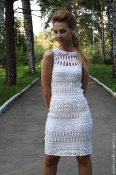 Vestidos hechos a mano.  Vestido de blanco.  Korczak Svetlana.  Tienda Online Feria Maestros.  Clap