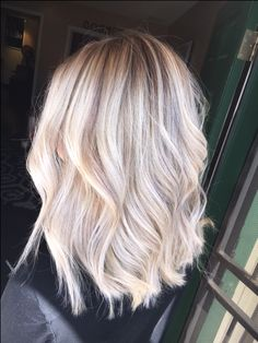 Platinum blonde with a lowlight for fall - insta: hairbysammie Fresno, CA