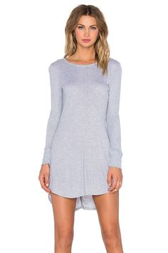NYTT Long Sleeve Split Seam Dress in Heather Grey