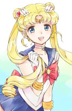 Sailor Moon, by unknown artist Sailor Venus, Arte Sailor Moon, Sailor Moon Fan Art, Sailor Moon Usagi, Sailor Mars, Sailor Moon Crystal, 5 Anime, Kawaii Anime, Anime Art