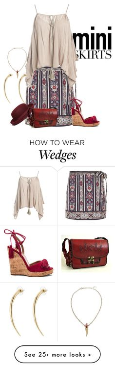 """""""mini"""" by kim-coffey-harlow on Polyvore featuring Étoile Isabel Marant, Sans Souci, Brooks Brothers, Aquazzura, Free People, Alexis Bittar and Yi Zhou"""