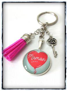 Porte clefs / bijoux de sac *Maman* - Fêtes des mamans : Porte clés par miss-j-adore