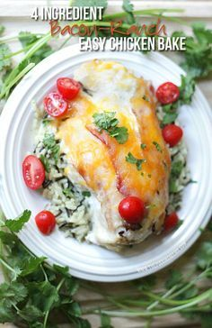 My new favorite recipe period. Bacon Ranch Chicken Bake by thepinningmama.com