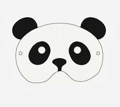 Little Pin Cushion Studio - free printable panda mask!